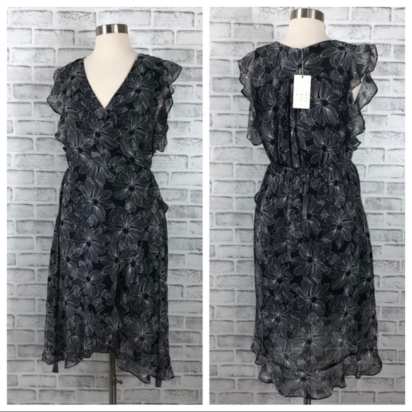 a new day Dresses & Skirts - A New Day Black and White Floral Dress